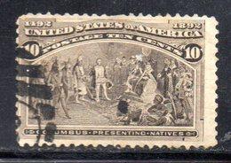 XP3847 - STATI UNITI 1893 , 10 Cents Unificato N. 107 Usato . Colombo - Usati