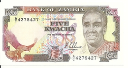 ZAMBIE 5 KWACHA ND1989 UNC P 30 - Zambie