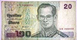 Thailand  2003 Banknote 20 Baht  Circulated - Thaïlande