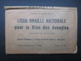 CARNET/POCHETTE 14 CP BELGIQUE (K02) LIGUE BRAILLE NATIONALE (15 Vues) Borinage, Mons - Namen