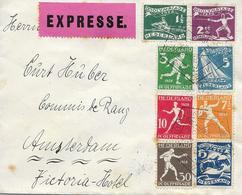 Jeux Olympiques, à Amsterdam 1928 Serie Complete Sur Lettre Express Yvert 199/206 Voir 2 Scan - Summer 1928: Amsterdam