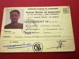 FÉDÉRATION NATIONALE DES LARYNGECTOMISES  -- ANCIENS COMBATTANTS VICTIMES GUERRE -Militaria Document Militaire - Dokumente