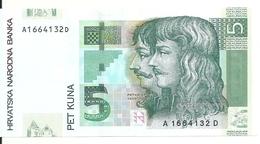 CROATIE 5 KUNA 2001 UNC P 37 - Croatie