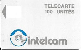 CARTE PUCE--CAMEROUN-100U-INTELCAM-Sans Puce /avec Logement Puce-Etat Usagé-RARE - Cameroun