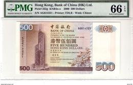 Hong Kong P.332g 500 Dollars 2000  Unc - Hong Kong