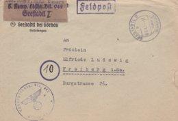 German Feldpost WW2: From Seestadtl (Ervenice) In Sudetenland - Landesschützen Bataillon 942 P/m Seestadtl - Militaria