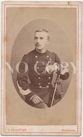 MILITAIRE. Soldat Avec Dédicace Au Verso. CDV Par Pellotier à Bourges. 2 Scans - Photos