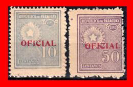 PARAGUAY (AMERICA DEL SUR) 2 SELLOS AÑO 1927-38  OFICIAL - Paraguay