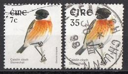 1107 Irlanda 1998-2003 Birds Uccelli Stonechat  Saxicola Rubicola Saltimpalo Eire Ireland Used - 1949-... Repubblica D'Irlanda