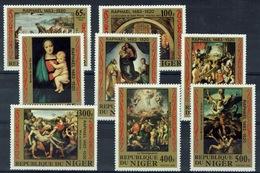 Niger, Easter , Raphael, Italian Painter, 1983, MNH VF Complete Set Of 8 - Niger (1960-...)