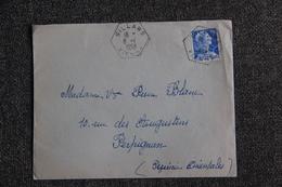 Timbre Sur Lettre De VILLARS  Vers PERPIGNAN ( N° 1011 B) . - France