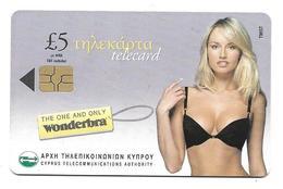 Chypre Télécarte Pin Ups Wonderbra - Chypre