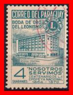 PARAGUAY (AMERICA DEL SUR) SELLO BODA DE ORO DEL LEONISMO - Paraguay