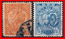 PARAGUAY ( AMERICA DEL SUR)  2 SELLOS ANTIGUO - Paraguay