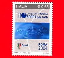 Nuovo - MNH - ITALIA - 2004 - 10º Congresso Mondiale Dello Sport Per Tutti -  0,65 - Specchio D'acqua Con Cerchi O - 6. 1946-.. Republik