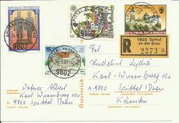 1987 Ganzsache Mit Zusatzfrankatur Einschreiben  Prachtstempel Spittal An Der Drau - Entiers Postaux