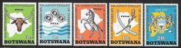 Botswana, Scott # 75-9 MNH Independence Anniv., 1971 - Botswana (1966-...)