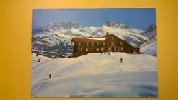 CARTOLINA POSTCARD SVIZZERA HELVETIA 1978 VIAGGIATA SKIHAUS HEUBERGE ANNULLO FIDERIS DORF - Suisse