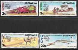 Botswana, Scott # 110-3 MNH UPU Centenary, 1974 - Botswana (1966-...)
