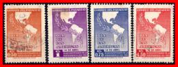 PARAGUAY (AMERICA DEL SUR) 4 SELLOS ANTIGUO - Paraguay