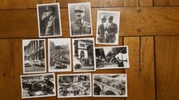 LOT DE 10 PHOTOS LIBERATION DE PARIS FORMAT 9 X 6 CM - War 1939-45