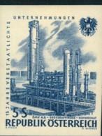 ÖL, OIL: 1961, 5 Sch. Raffinerie Schwechat Ungezähnt Mit Sauberen Erstfalz. Mi-Nr. 1096 U - Oil