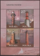 POLAND 2007 Mi Bl.176 Lighhouses Gdansk Rozewie Hel Kolobrzeg Block MNH** - 1944-.... République