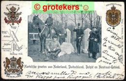 VAALS Vierlandenpunt 1900 Verzonden Naar Italië - Vaals
