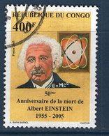 Congo, Timbre Oblitéré, 2005, 50ème Anniversaire De La Mort De Albert Einstein - Congo - Brazzaville