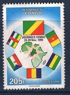 Congo, Timbre Oblitéré, 1999, Journées CEMAC - Congo - Brazzaville