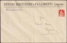 Suisse Vers 1912. Entier Timbré Sur Commande. Bureau Des Exécutions Et Faillites De Lugano (tribunal Du Commerce) - Usines & Industries