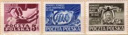 Poland 1948 Mi 508 - 510, Congress Of The Socialist Labor Party. Warynski, Flag. MNH ** - 1944-.... República