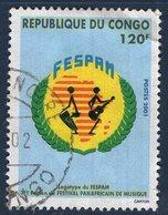 Congo, Timbre Oblitéré, 2001, 3ème édition Du Festival Panafricain De Musique - Congo - Brazzaville