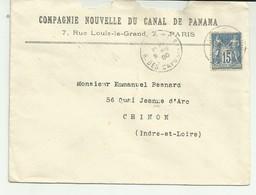 Lettre A Entete Compagnie Nouvelle Du Canal De Panama - Marcophilie (Lettres)