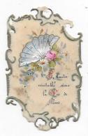 """Fantaisie  Celluloïd  """" Bonne Fête """" - L'Amitié Véritable Sème La Vie De Fleurs """" ( Format 103 X 62 Mm). - Fêtes - Voeux"""