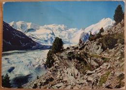 Mortalergletscher Mit Berninagruppe - Schweiz