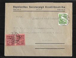 1938 LETTLAND → Brief Riga Nach Darmstadt - Lettonie