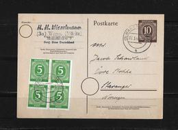 1948 ALLIIERTE BESETZUNG → Ga ZuF Postkarte Waren Nach Stavanger Norwegen - Zone Soviétique