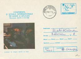 Ganzsache 1989 4000 Sf. Georghe Laser Laseranwendung - 1948-.... Republiken