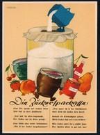 C3461 - TOP Eggers Künstlerkarte Sparkasse Zucker - Werbung Reklame Reichsausschuß Volkswirtschaftliche Aufklärung - Zucker