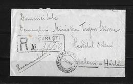 1926 RUMÄNIEN → R-Brief Bukarest Nach Harlau - 1918-1948 Ferdinand I., Charles II & Michel