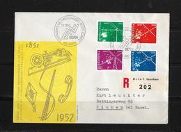 1952 HUNDERT JAHRE ELEKTRISCHES NACHRICHTENWESEN → FDC R-Brief Nach Riehen - FDC
