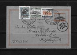1936 GRIECHENLAND → GA ZuF Postkarte Athen Nach Radebeul - Grèce