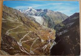 Gletsch Mit Grimsel Und Furkapass Rhonegletscher Galenstock - Schweiz
