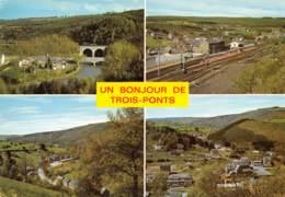 CPM - Un Bonjour De TROIS-PONTS - Trois-Ponts