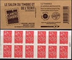 FRANCE Carnet 3744A-C12 ** MNH Non Plié Marianne De Lamouche Vendu Sous La Faciale 12,60 € - Booklets