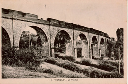 Cpa/cpsm 19 VIGNOLS  Le Viaduc Du Chemin De Fer (1875) Ligne Nexon à Brive-la-Gaillarde , Passage D'un Train - Frankreich