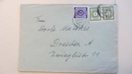 OPD: Orts-Brief 5 Pf Ost Sachsen Gez. Im Paar Mit Zusatzfr. 6 Pf Ziffer OSt. Dresden A20 13.6.46 Portogenau Knr: 57 (2) - Sowjetische Zone (SBZ)