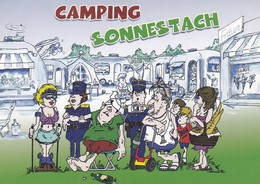 CAMPING SONNESTACH. HUMOUR. ADVERTISING MIWWEL & KICHECHEL RTL KURT CACTUS SERMELUX YEAR 2008 - BLEUP - Humour