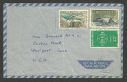 Affr. Europa - Palais Du C.n.i.t. - Barrage Foum El Gherza / Lettre Avion >>> U.S.A. / PARIS 26.10.1959 - 1921-1960: Modern Tijdperk